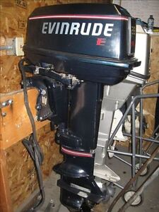Good Running Evinrude 28 hp long shaft two stroke outboard