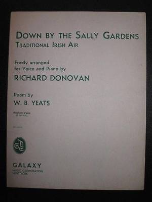 Down By The Sally Gardens Sheet Music Vintage 1947 Traditional Irish Air (O)