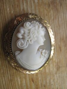 Gold and Coral Cameo