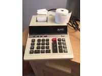 Sharp adding machine