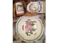 Collection of 3 PORTMEIRION, Mantel Clock, Storage Jar & Bowl