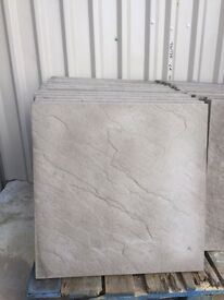 Paving Slabs 100 of 600 x 600 Riven Charcoal, New