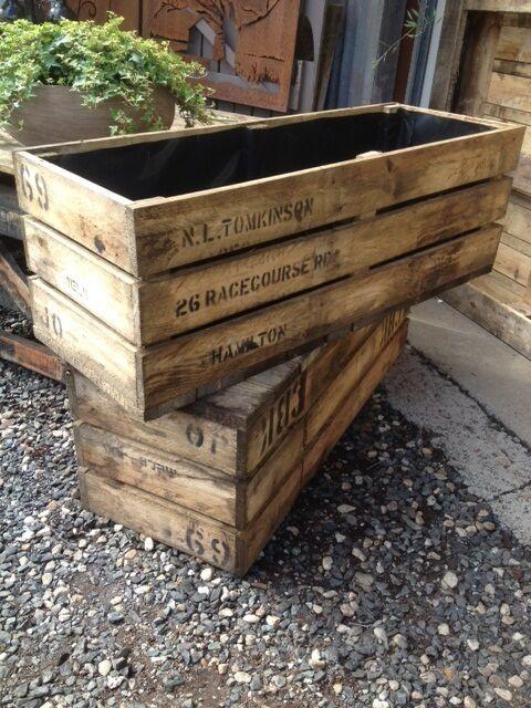 timber planter box 1m long raised garden bed wooden box trough