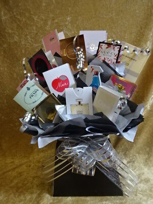 Sweet & Flower Style Perfume Bouquet Vial Samples Gift Bows Hamper Black Box Fab
