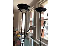 Great condition - Halogen Floor Lamp Finished in Black Chrome