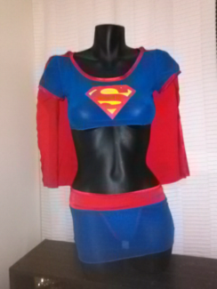 New Supergirl Cheeky Lingerie Set o/s