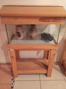 2ft Fish Tank & Timber Stand Murrumba Downs Pine Rivers Area Preview
