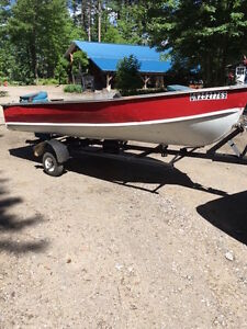 14' STARCRAFT ALUMINUM BOAT AND TRAILER