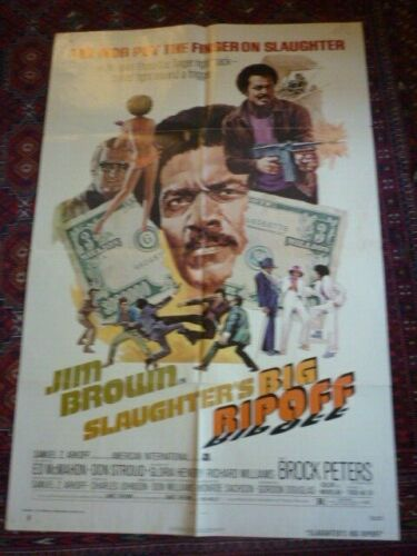 slaughters big rip off james brown blackexpolitaion  film poster large usa orig