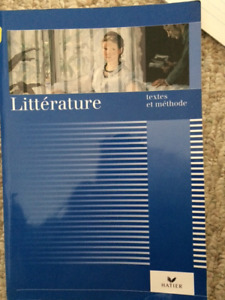 Textbook: Litterature -textes et methode (French Ed,  Paperback