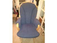 Blue nursing gliding rocking chair Dutailier