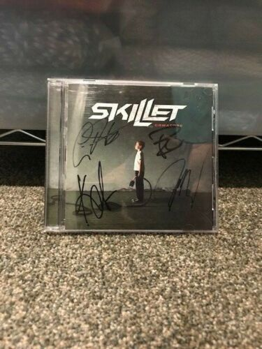 Skillet Comatose Signed CD New Great Album Ready to Frame All 4 Autographs Rare!