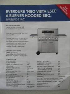 EVERDURE 'NEO VISTA ESEE' 6 BURNER HOODED BBQ Spearwood Cockburn Area Preview
