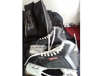 Sz 8 Mens Easton ice skating Boots As New used Once in Bag £50