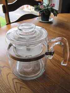 Vtg PYREX COFFEE POT Glass Insert New 60 year old item