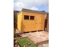 10ft x 6ft Wooden Garden Pent Shed