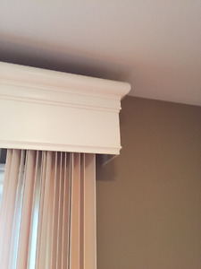 Vertical Blinds with sheers and cornice