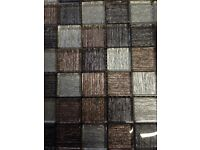 CLEARANCE black and grey mix glass mosaics, splash backs, crafts