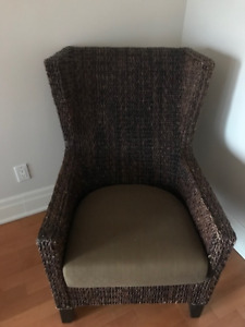 Crate & Barrel Wicker Chair