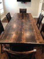 Reclaimed SolidWood Harvest Dining Table - Brand New - Delivery
