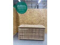 HOL Storage table, acacia98x50 cm IKEA Croydon #BargainCorner