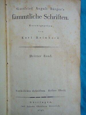 Gottfried August Bürger's sämmtliche Schriften. Bürger, Gottfried August, 1797 gebraucht kaufen  Versand nach Austria