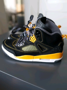 Black/University Yellow Jordan Spizike Men's size 7.5
