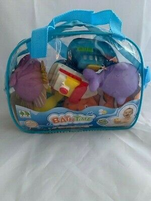New Next Milestones 7 Piece Squirt Bath Toys- NEW