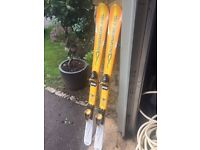 Rossignol Bandit Junior Skis with Bindings. 138cm. Great Condition. £50.
