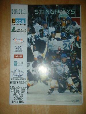 2004/5 HULL STINGRAYS v BELFAST GIANTS ICE HOCKEY