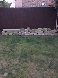 Yorkstone fireplace (40+ pieces of top quality stones)