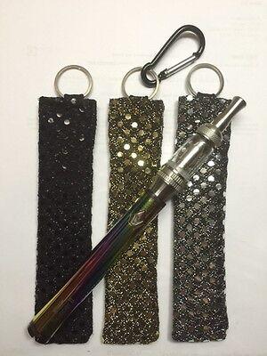 3) E-cigarette KEY CHAIN Holder Vape Battery Kanger ego ecig epen Sequins Bling (Sequin Cigarette Holder)