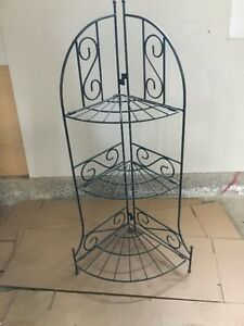 "Metal plant stand 40"" high x 16"" wide"