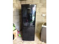 BLACK DAEWOO FRIDGE FREEZER