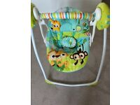 Bright starts baby musical swing chair