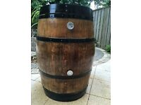 100% Hand made from reclaim Whiskey Barrel - GAS BBQ, Smoker, Roaster for Meat, Fish