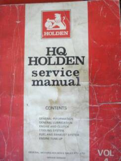 Hq in stirling area wa engine engine parts transmission holden genuine hq workshop service manual vol 4 sciox Gallery