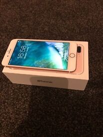 iPhone 7 plus rose gold 32gb under warranty unlocked to all networks