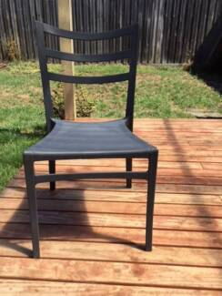 Four outdoor chairs - good condition - $20 the lot