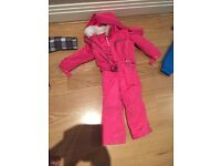 Girls all in one winter or ski suit -