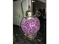 WANTED moroccan style lantern multi crackle glaze glass