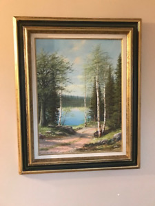 VINTAGE OIL PAINTING  LISTED CANADIAN ARTIST ERKKI JALAVA