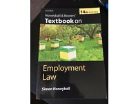 Honeyball and Bowers 14th ed, Employment Law, BRAND NEW: never used