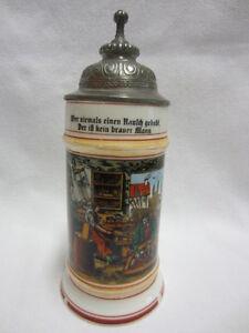 ZUNFTKRUG - Porzellan - WAGNER / RAD-MACHER / WERKSTATT - Selt. Szenen - um 1910