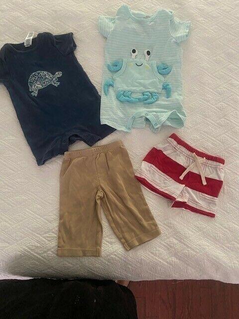 Baby Boy Clothes 3-6 Mos Lot Of 4 Piecesbaby Gap, Cat & Jack, Carters