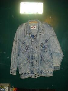 1980s Blue Jean Coat. Womens med or large.