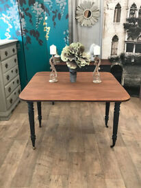 Shabby chic Victorian drop leaf dining table