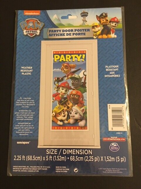 PAW PATROL birthday party decoration 5ft Door Banner Poster