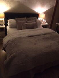 King Size Bed Frame ( No mattress). Dark brown