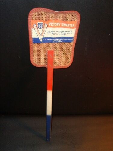 WWII Red, White & Blue Victory Fly Swatter, Decatur, Illinois